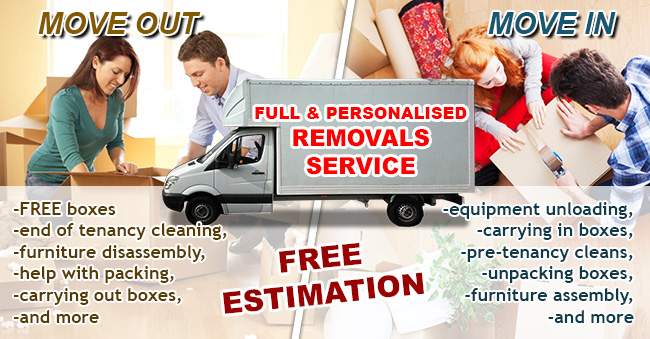 Move in & move out cleaning and packaging Tunbridge Wells