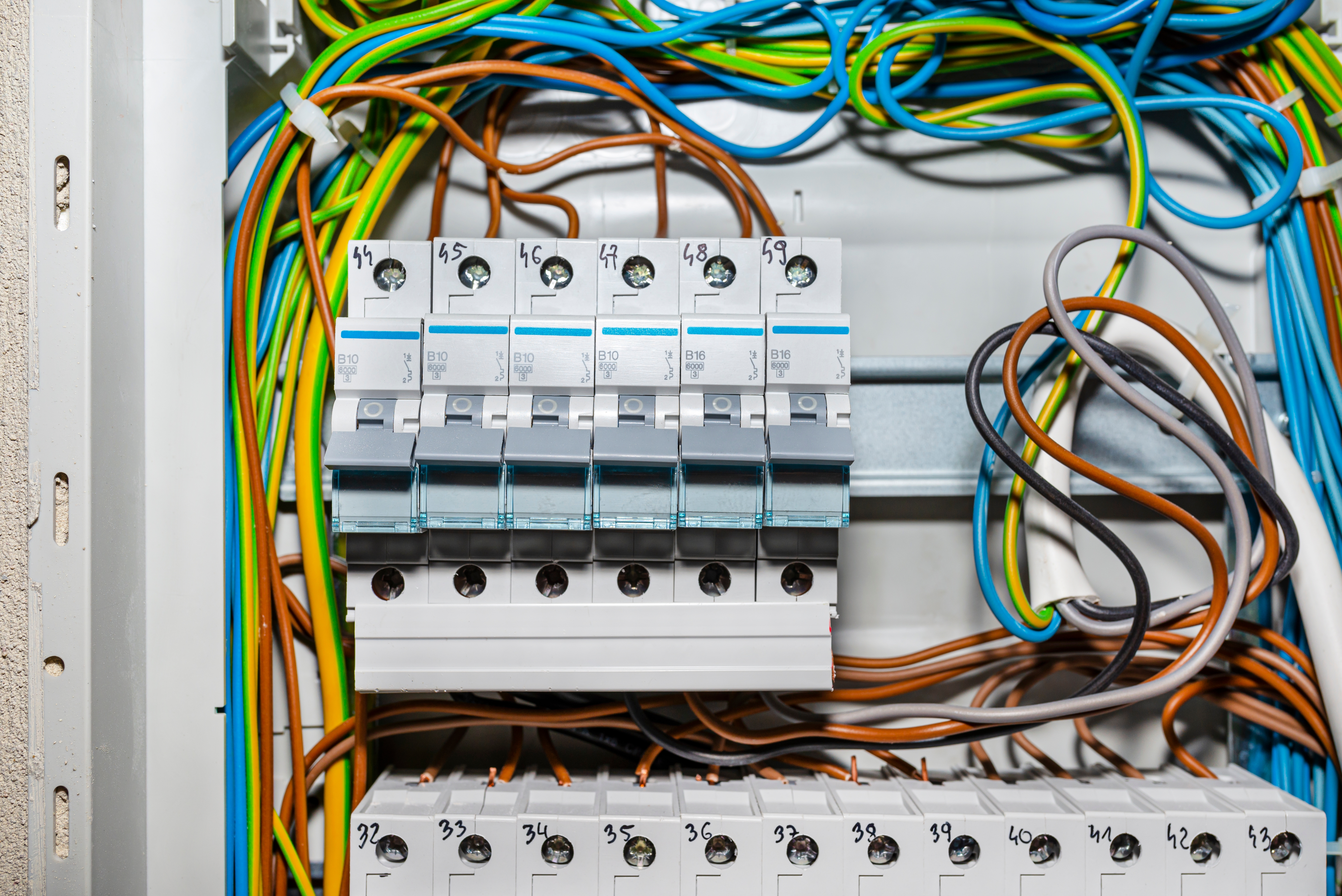 fuse box - electrical wires